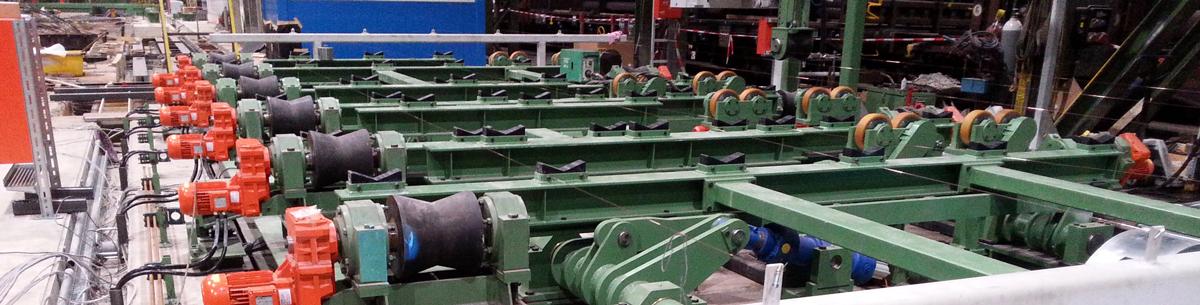 Eine Rohrsignieranlage für die Stahlhersteller während der Montage