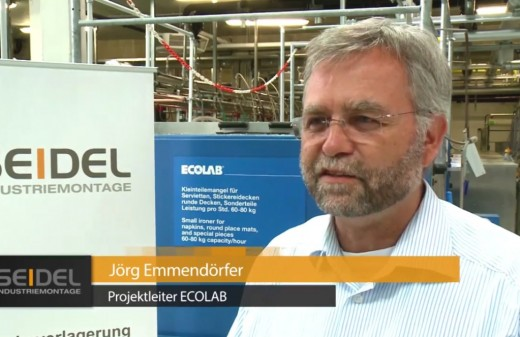 Der Projektleiter Jörg Emmendörfer von ECOLAB-Deutschland lächelt in die Kamera.
