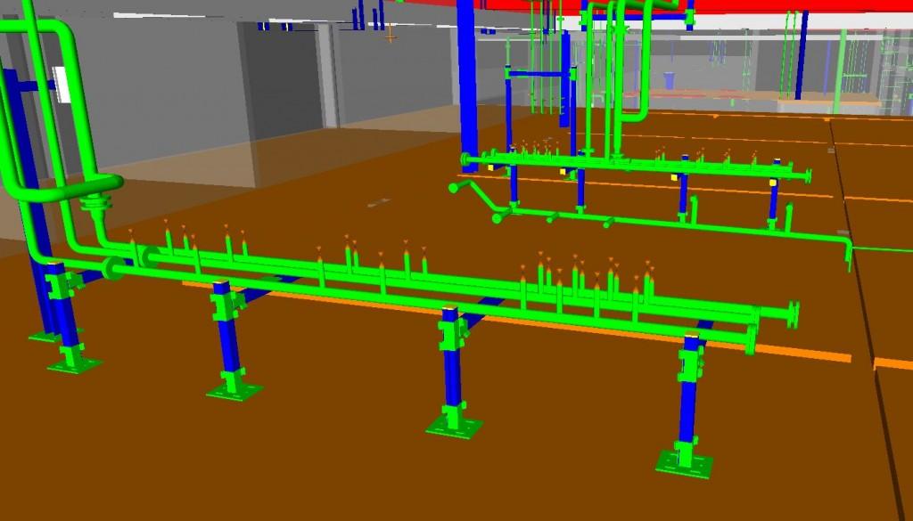 3D Zeichnung zu einem Rohrleitungsbau