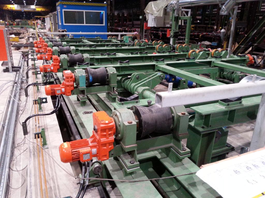 Rohrsignieranlage nach der Fertigstellung beim Stahlhersteller